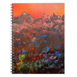 Craggy Mountain Sunset Notebook