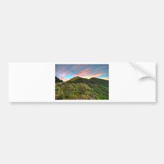 Craggy Pinnacle Sunset Bumper Sticker