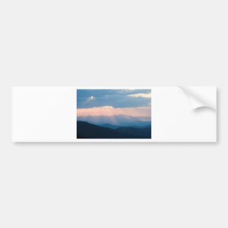 craggy sunset bumper sticker