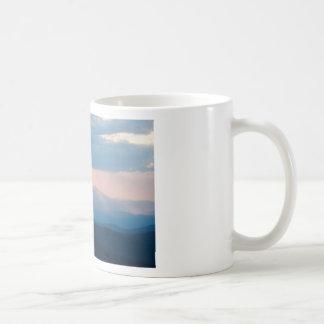 craggy sunset coffee mug