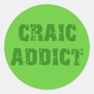 CRAIC ADDICT ROUND STICKERS