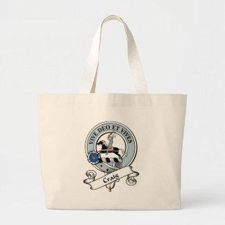 Craig Clan Badge Tote Bags