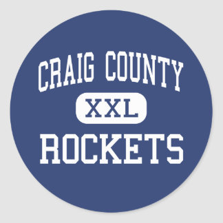 Craig County - Rockets - High - New Castle Classic Round Sticker