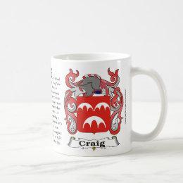 Craig Family Coat of Arms Mug