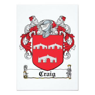 Craig Family Crest Card