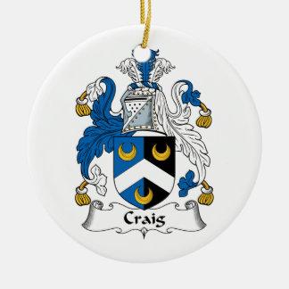 Craig Family Crest Ceramic Ornament