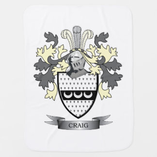 Craig Family Crest Coat of Arms Baby Blanket