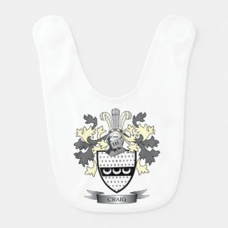 Craig Family Crest Coat of Arms Bib