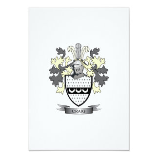 Craig Family Crest Coat of Arms Card