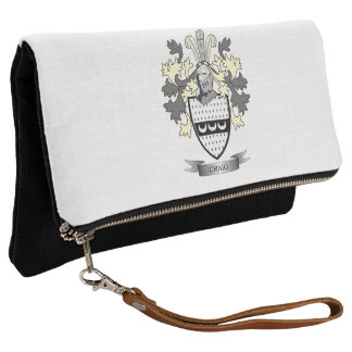 Craig Family Crest Coat of Arms Clutch