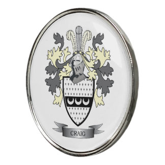 Craig Family Crest Coat of Arms Golf Ball Marker