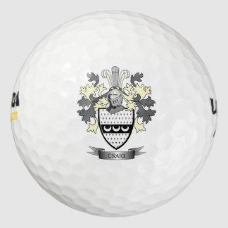 Craig Family Crest Coat of Arms Golf Balls