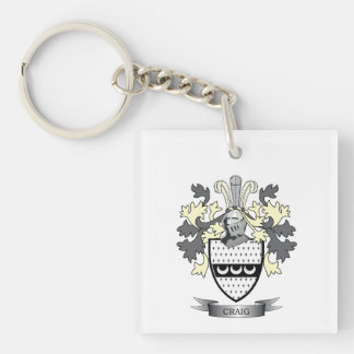 Craig Family Crest Coat of Arms Keychain