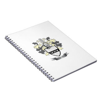 Craig Family Crest Coat of Arms Notebook