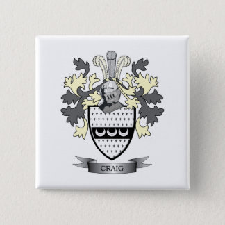 Craig Family Crest Coat of Arms Pinback Button
