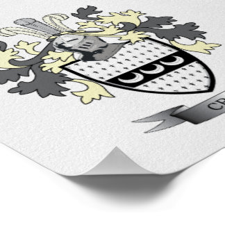 Craig Family Crest Coat of Arms Poster