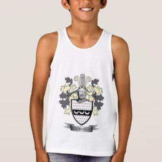Craig Family Crest Coat of Arms Tank Top
