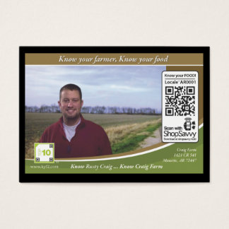 Craig Farm Traceable Shelftalker Business Card