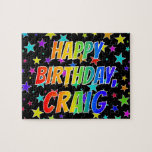 "[ Thumbnail: ""Craig"" First Name, Fun ""Happy Birthday"" Jigsaw Puzzle ]"