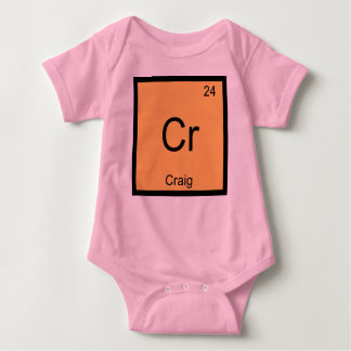 Craig Name Chemistry Element Periodic Table Baby Bodysuit