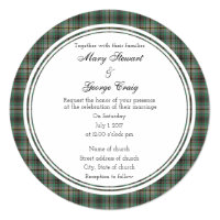 Craig Scottish Wedding Round Invitation