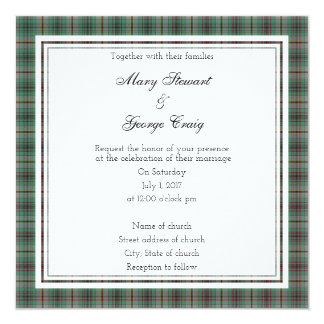 Craig Scottish Wedding Square Invitation