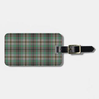 Craig Tartan Pattern Luggage Tag