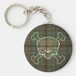 Craig Tartan Skull No Banner Keyring Basic Round Button Keychain
