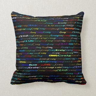 Craig Text Design I Throw Pillow
