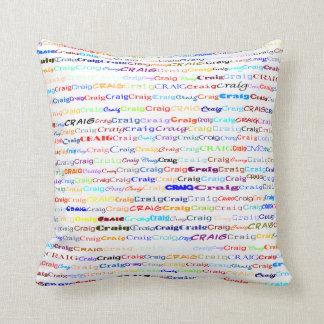 Craig Text Design II Throw Pillow