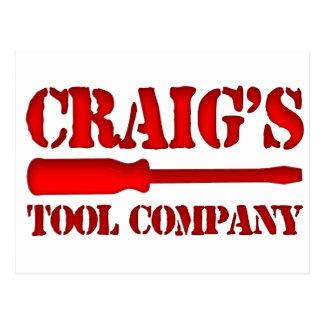Craig's Tool Company Postcard