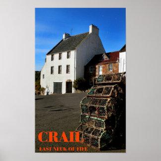 crail, east neuk of fife poster