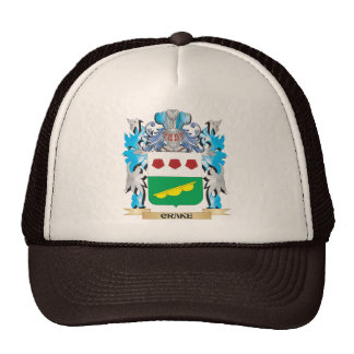 Crake Coat of Arms - Family Crest Hats
