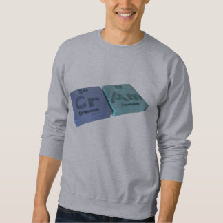 Cram as Cr Chromium and Am Americium Sweatshirt