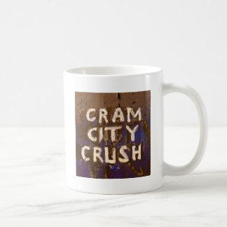 CRAM CITY CRUSH CLASSIC WHITE COFFEE MUG