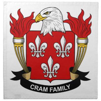 Cram Family Crest Napkin