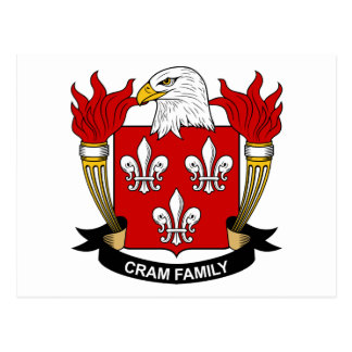 Cram Family Crest Postcard