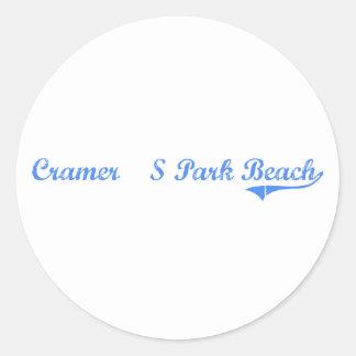 Cramer'S Park Beach Virgin Islands Classic Design Classic Round Sticker