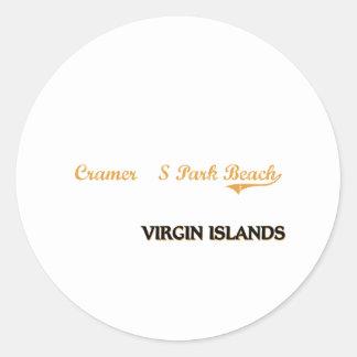 Cramer'S Park Beach Virgin Islands Classic Classic Round Sticker