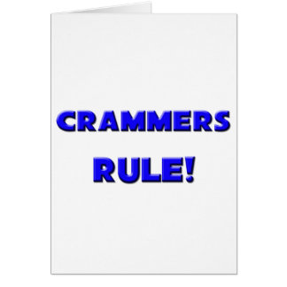 Crammers Rule! Cards