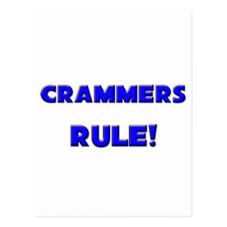 Crammers Rule! Postcards