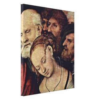 Cranach J Lucas - Christ and the adulteress Canvas Print