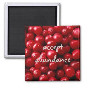 Cranberries Accept Abundance magnet