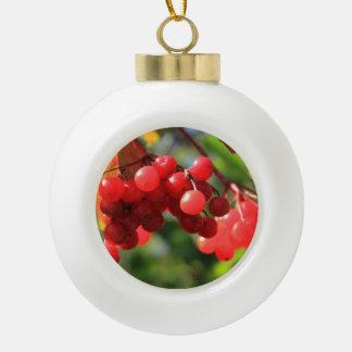 Cranberries Ceramic Ball Christmas Ornament