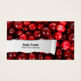 Cranberries Customizable FoodCloseup Business Card