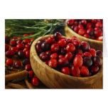 Cranberries in bowls cards