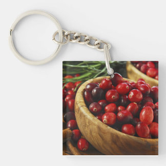 Cranberries in bowls keychain