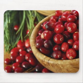 Cranberries in bowls mouse pad