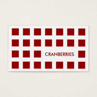 CRANBERRIES (mod squares) Business Card