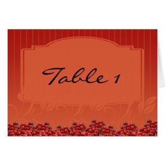 Cranberries on Orange Stripe Card